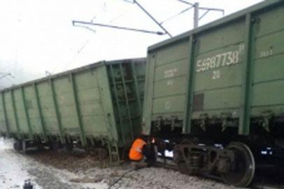 На севере Приамурья сошли с рельсов несколько вагонов с углем