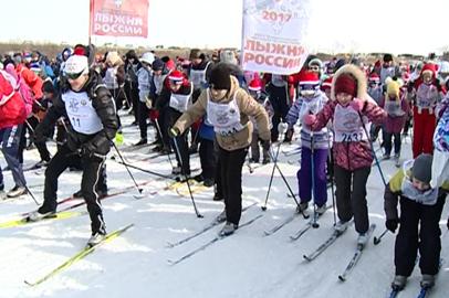 10 тысяч амурчан присоединились к гонке «Лыжня России»