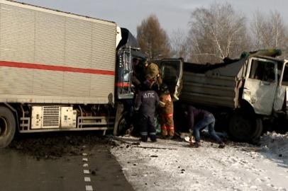 Водителя и пассажирку фуры зажало в кабине после ДТП на трассе Благовещенск — Гомелевка