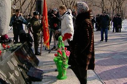 В Благовещенске почтили память погибших в горячих точках