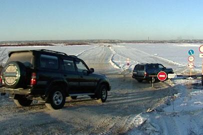 Комиссия запретила работу ледовой переправы Поярково — Сюнькэ