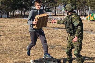Военно-спортивную эстафету прошли учащиеся лицея БГПУ