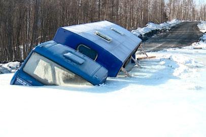 Участки автодороги в Селемджинском районе превратились в каток