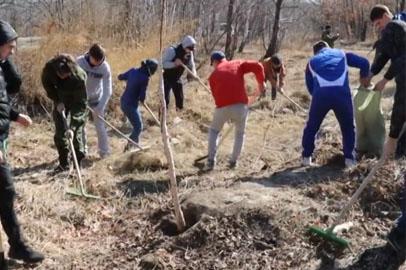 Активисты Благовещенска приняли участие в акции «Чистый лес — территория без огня»