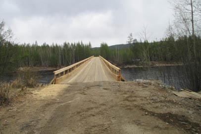 В Тындинском районе реконструировали разрушенный паводком мост