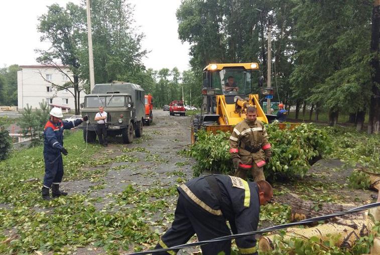 Унесенные ветром: В Приамурье устраняют последствия мощного циклона
