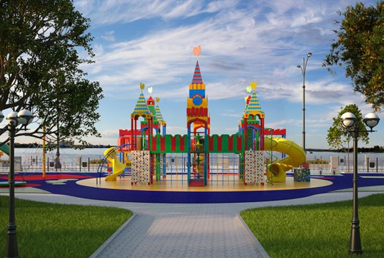 Будущую игровую зону на набережной Амура начнут строить на этой неделе