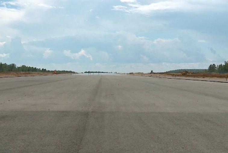 В аэропорту Зеи готовят взлётно-посадочную полосу под укладку второго слоя асфальта