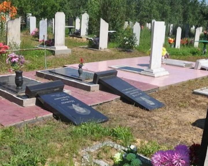 Дети устроили погром на кладбище в Тамбовке
