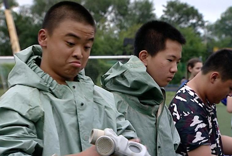 Российские и китайские школьники поиграли в «Зарницу»
