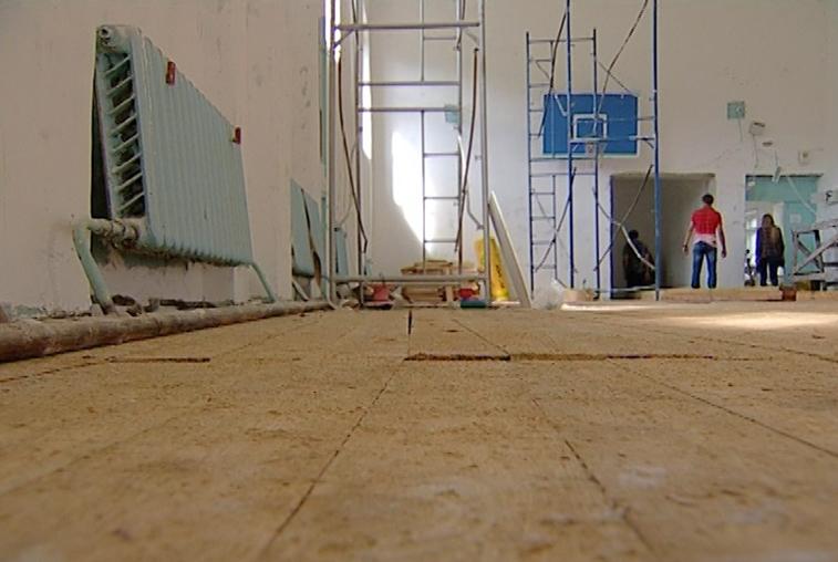 В амурских школах ремонтируют спортзалы на федеральные средства