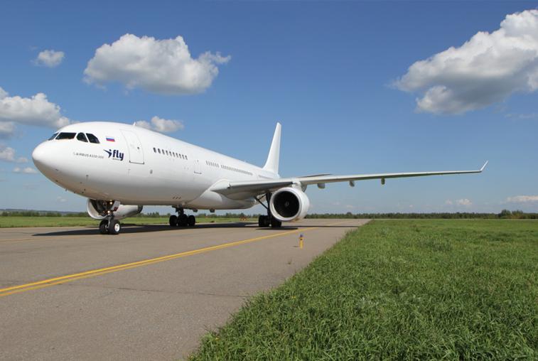 В Благовещенском аэропорту впервые приземлился широкофюзеляжный аэробус А-330