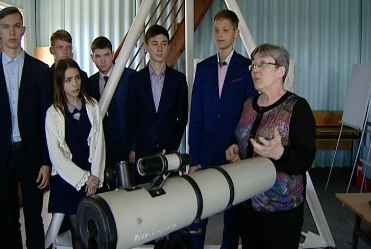 Ученики благовещенской гимназии №1 изучают астрономию в теории и на практике