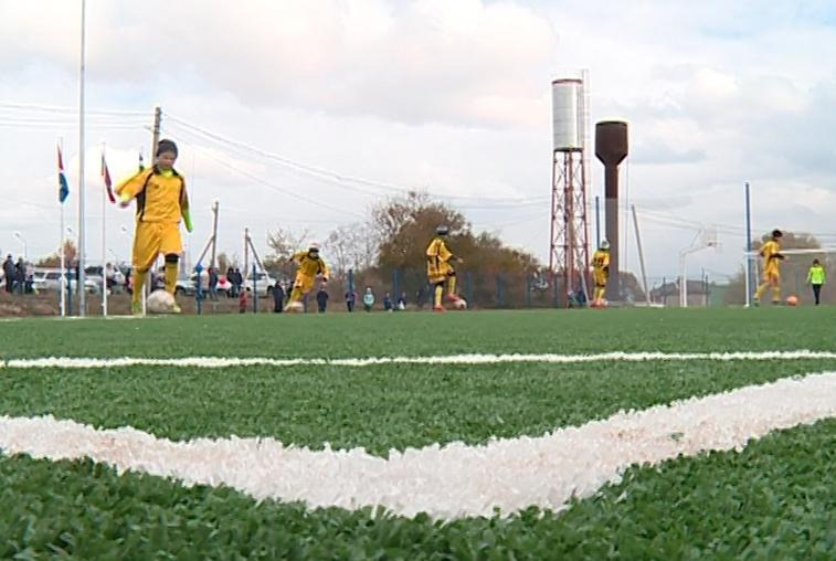 Многофункциональный стадион появился возле школы села Чигири