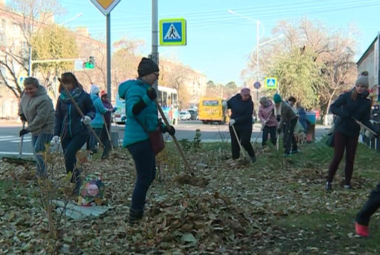 В акции «Чистый город» поучаствовали сотрудники администрации Благовещенска