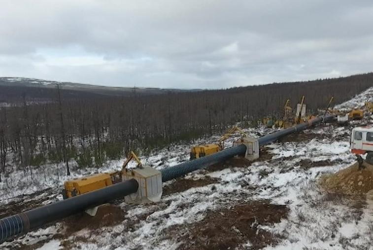 Строительство трубопровода «Сила Сибири» идет с опережением графика