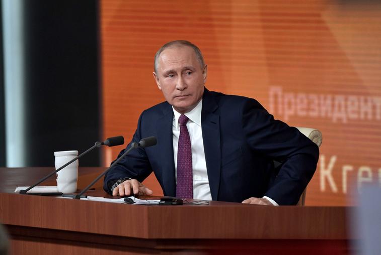 Пресс-конференция Владимира Путина: Рост экономики, госдолг регионов, вопросы демографии