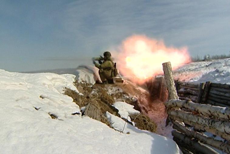Боевыми стрельбами завершились учения на полигоне Трехречье