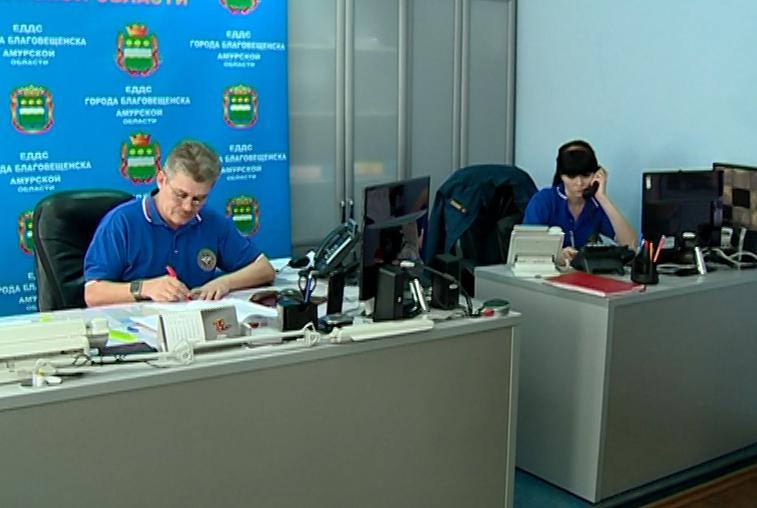 Сотрудники ситуационного центра тренировались пресекать нарушения на выборах в Благовещенске