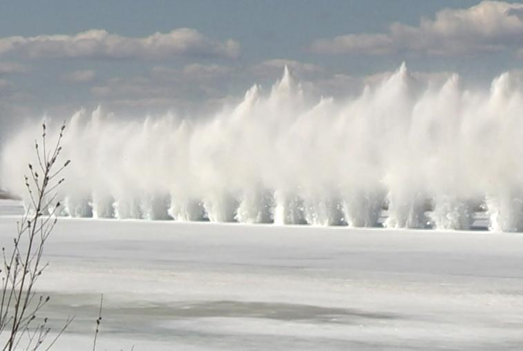 Подрывы льда начинаются на Верхнем Амуре