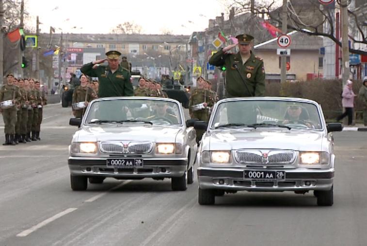 Репетиции Парадов Победы провели в Благовещенске и Белогорске