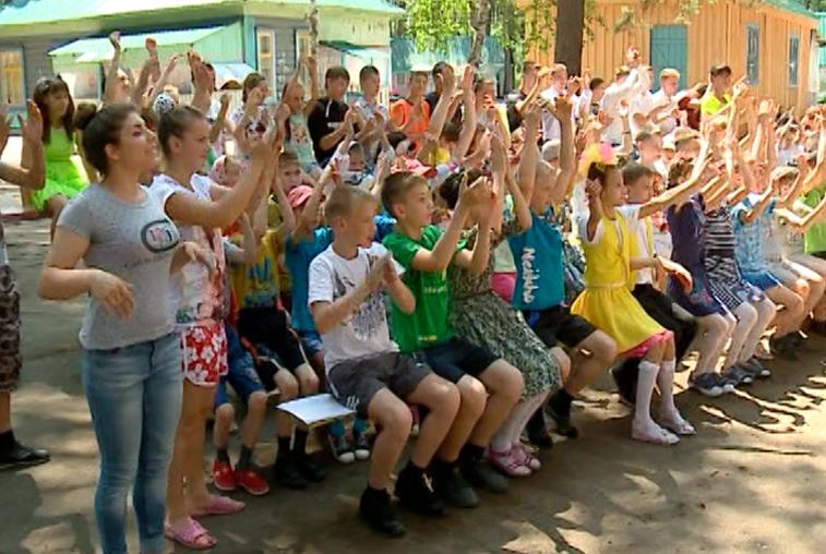 Ребята из школы-интерната активно проводят лето в лагере под Свободным