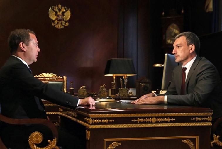 Василий Орлов обсудил ущерб от паводка и развитие Приамурья с Дмитрием Медведевым