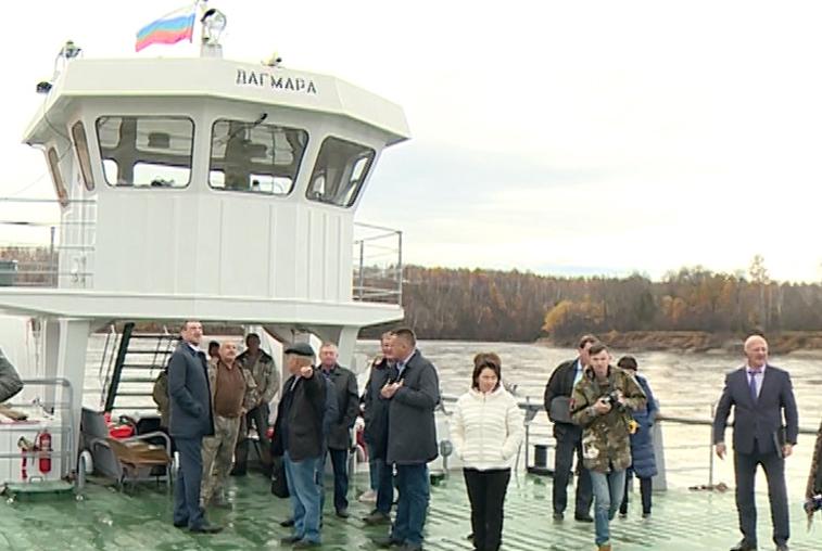 Василий Орлов оценил работу нового парома в Мазановском районе