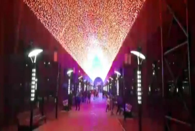 Полуторачасовое световое шоу устроили в парке Белогорска