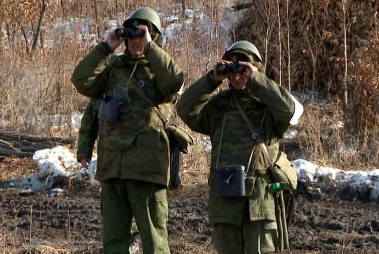 Разведчики 35-й армии учатся выживать в экстремальных условиях