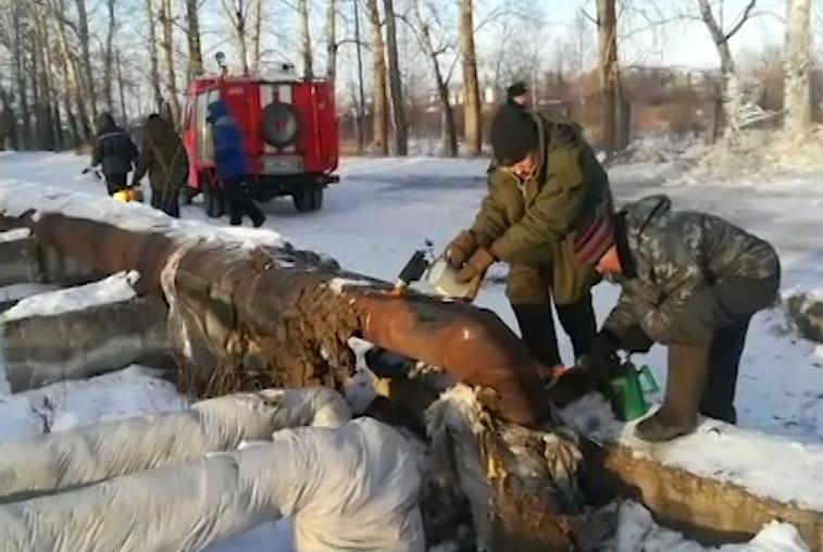 Аварийный коллектор в Возжаевке демонтируют