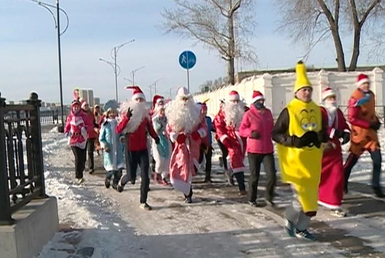 Пятикилометровый забег устроили благовещенцы в первый день нового года
