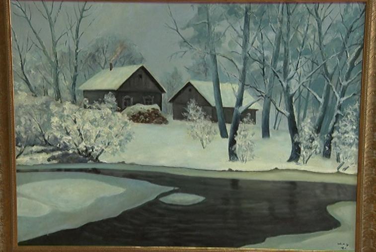 Сказочные зимние пейзажи запечатлел амурский художник Юрий Цепляев