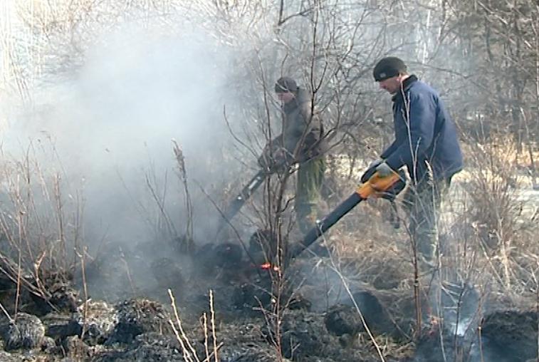 Десантники авиалесоохраны тушат пожары на севере Приамурья