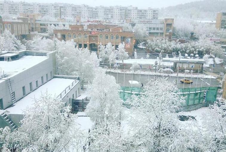 4 района Приамурья оказались во власти апрельского снежного циклона