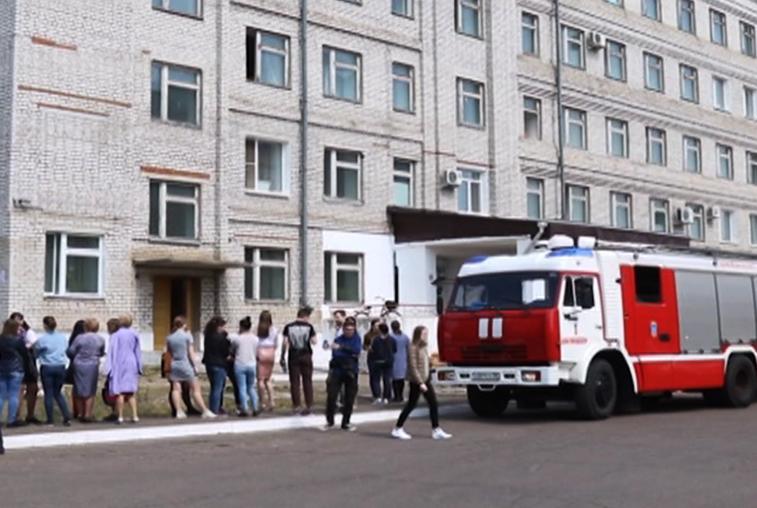 Возгорание произошло минувшим утром в одном из корпусов АмГУ