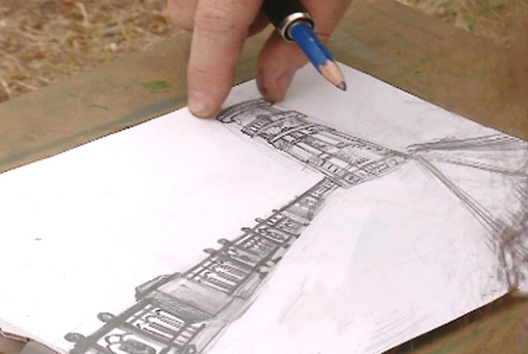 Юные художники рисуют Благовещенск вместе с мастерами кисти