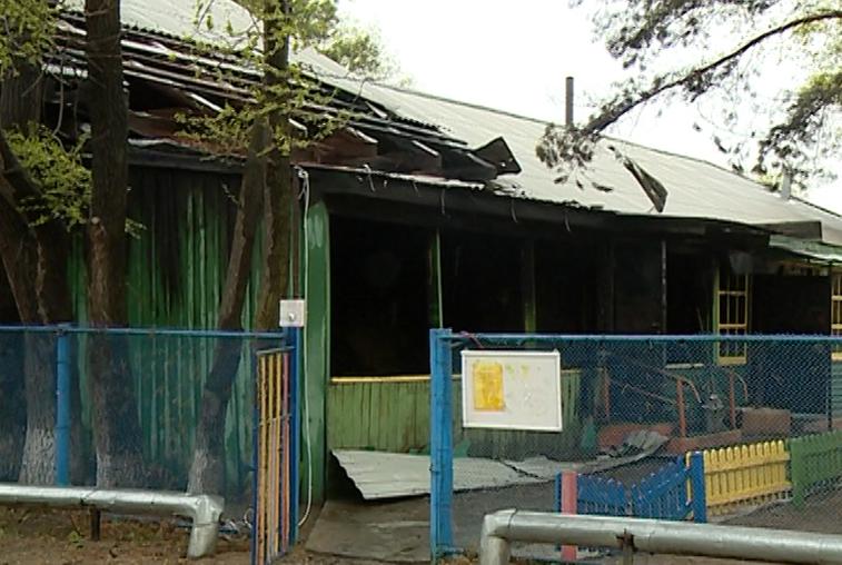 Детский сад горел в Усть-Ивановке