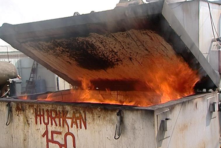 150 кг продуктов сожгли сотрудники Россельхознадзора
