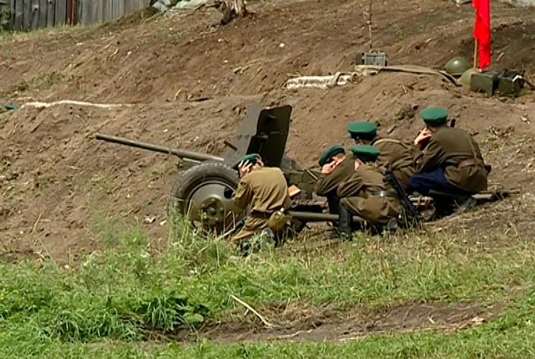 В Марково провели реконструкцию боя освободителей Китая с японскими захватчиками