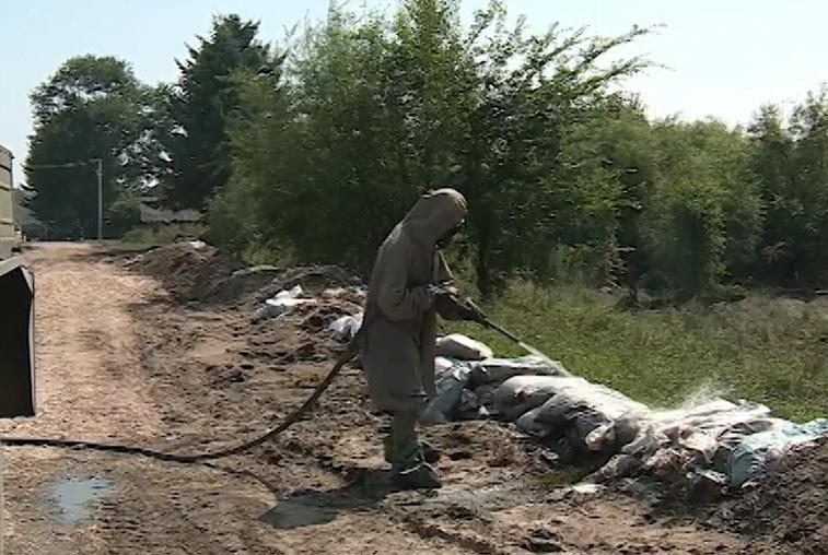 Военные завершили дезинфекцию домов и придомовых территорий, пострадавших от паводка
