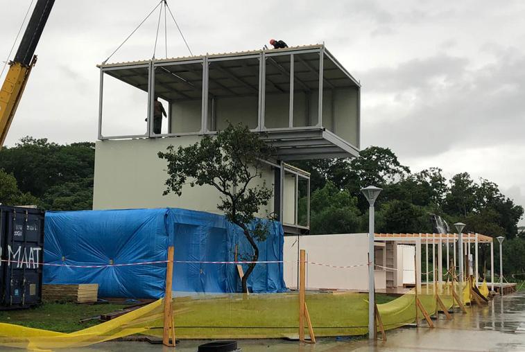 Подготовка к ВЭФ-2019: Строительство амурского павильона почти закончено