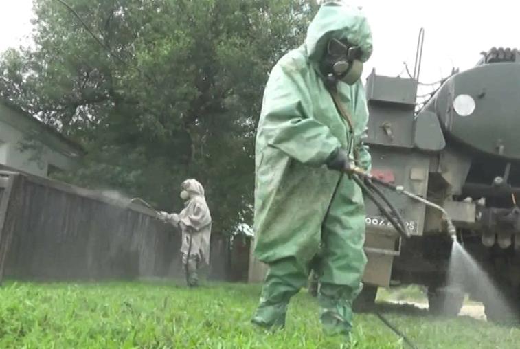 Военные завершили дезинфекцию всех подтопленных территорий области