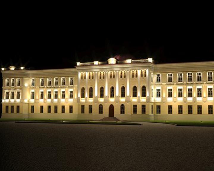 Еще одно здание засветилось художественной подсветкой в Благовещенске