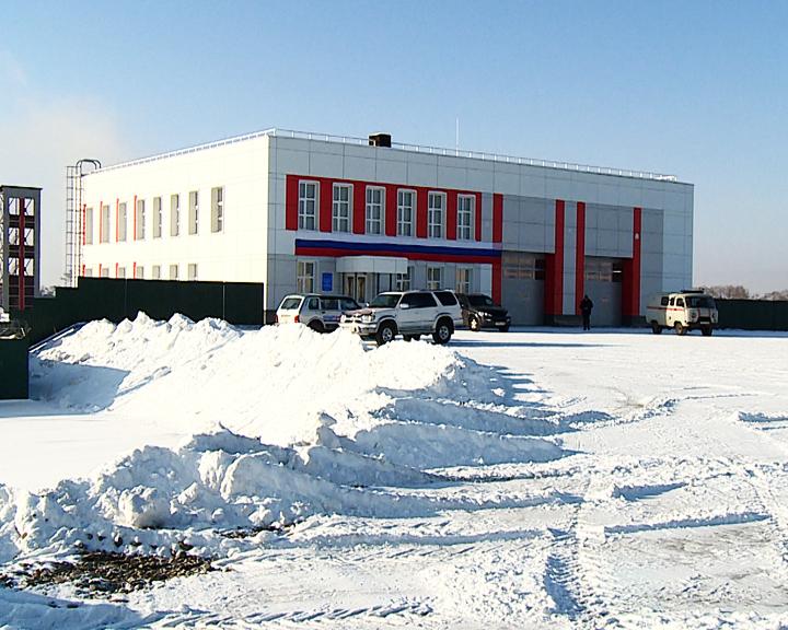 В Новобурейском состоялось открытие современного пожарного депо