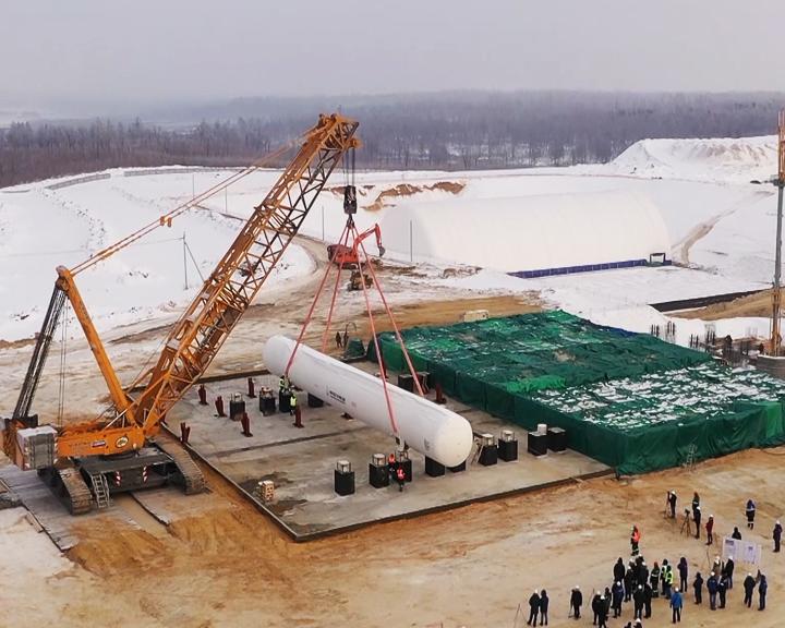 Строительство объектов первой очереди космодрома Восточный продолжат в следующем году
