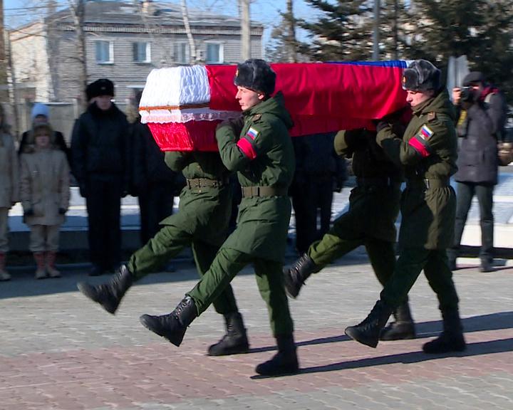 Возвращение на родную землю: В Свободном состоялось торжественное захоронение останков амурского фронтовика