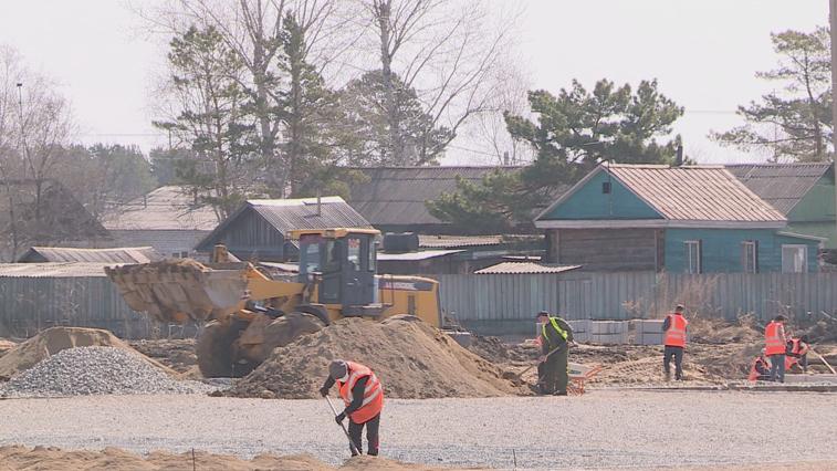 В Ивановке полным ходом идет масштабная реконструкция сельского стадиона