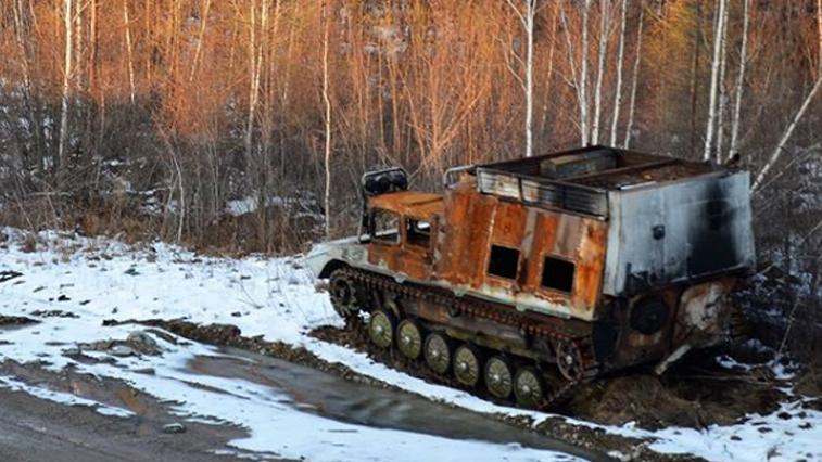 В Селемджинском районе пожарные тушили вездеход