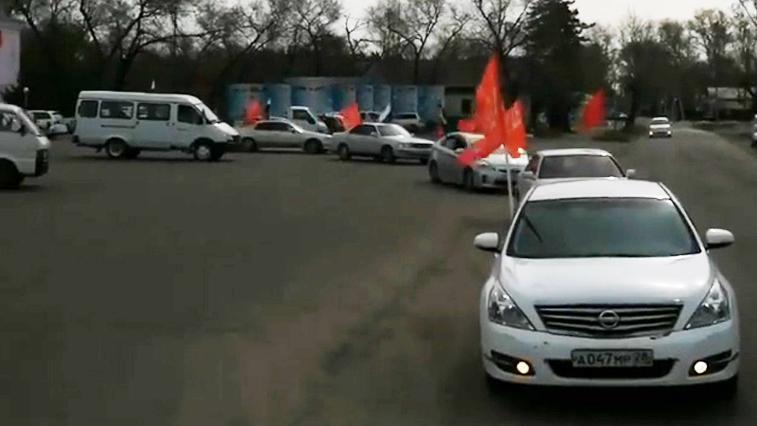 В Константиновском районе сегодня состоялся автопробег в честь 75-летия Победы